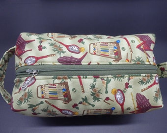 Summer Camp Travel Bag, Badminton Dopp Kit, Croquet Ditty Bag, Toiletry Kit, Travel Bag, Summer Vacation Pouch, Go Bag, Gifts for Campers