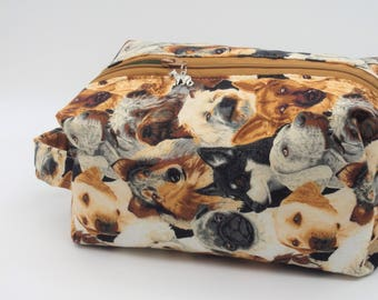 Dog Walker's Bag, Puppy Bag, Doggy Bag, Zip Pouch, Ditty Bag, Toiletry Kit, Dog Toy Bag, Travel Case