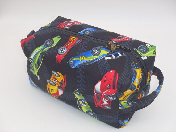 Race Car Bag Zip Pouch Ditty Bag Toiletry Kit Pencil Case Etsy