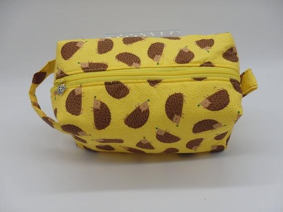 9aa9c84257 Hedgehog Bag Zip Pouch Travel Bag Ditty Bag Toiletry Kit