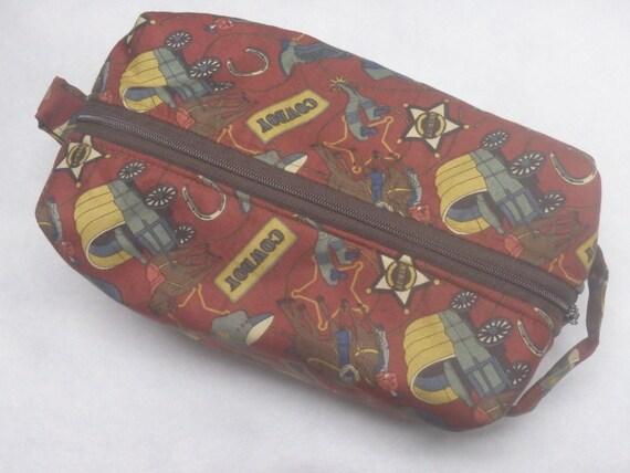 f3a71ada7a Cowboy Bag Travel Bag Ditty Bag Western Bag Pencil Case
