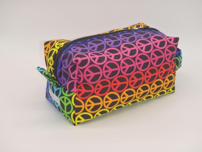 e755774348 Rainbow Peace Travel Bag Rainbow Pouch Travel Bag Ditty