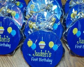 First Birthday Personalized Tambourine - Birthday Party Favors / Birthday Gift / Party Favor / Tambourine