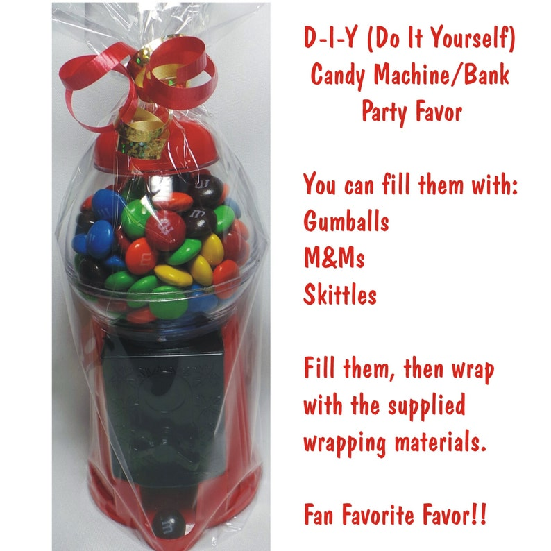 D-I-Y Gumball Machine / Bank with Giftwrap included  CANDY image 0