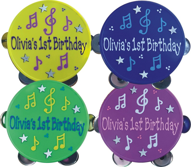 Tambourine Personalized & Gift Wrapped / Music themed party / image 0