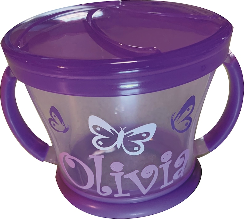 Personalized Butterflies Snack Cup / Snack Catcher / Munchkin image 0