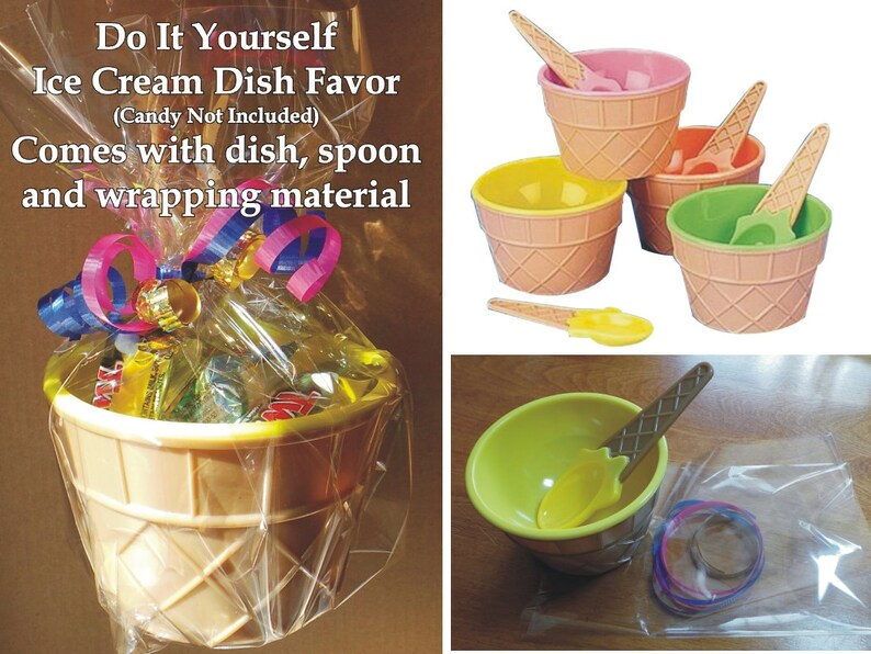 D-I-Y Ice Cream Bowl with Spoon and Wrapping Material image 0