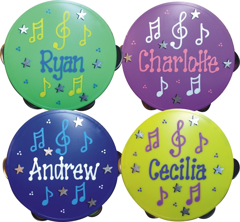 Tambourine Personalized & Gift Wrapped / Music Party / Party image 0