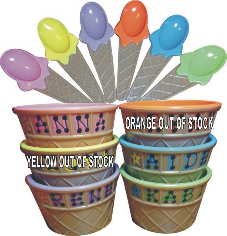 Ice Cream Bowl Personalized Party Favor / Kid's image 0