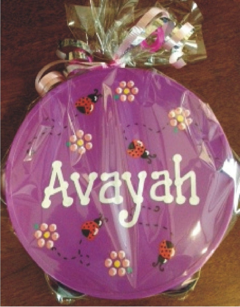 Personalized Ladybugs Tambourine  Personalized and Gift image 0