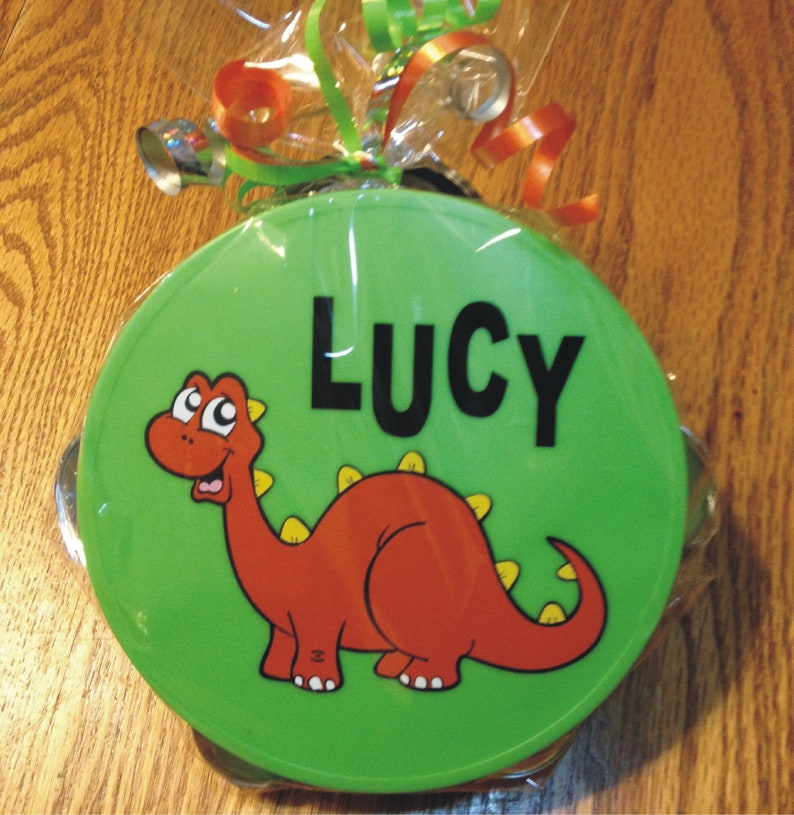 Personalized Dinosaur Tambourine  Personalized & Gift Wrapped image 0