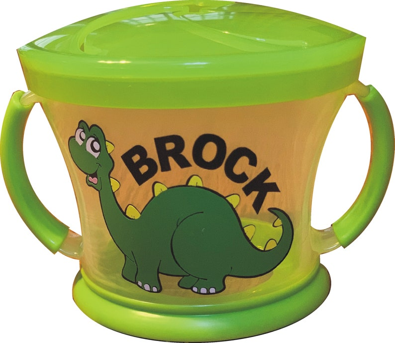 Personalized DINOSAUR Snack Cup / Snack Catcher / Munchkin image 0