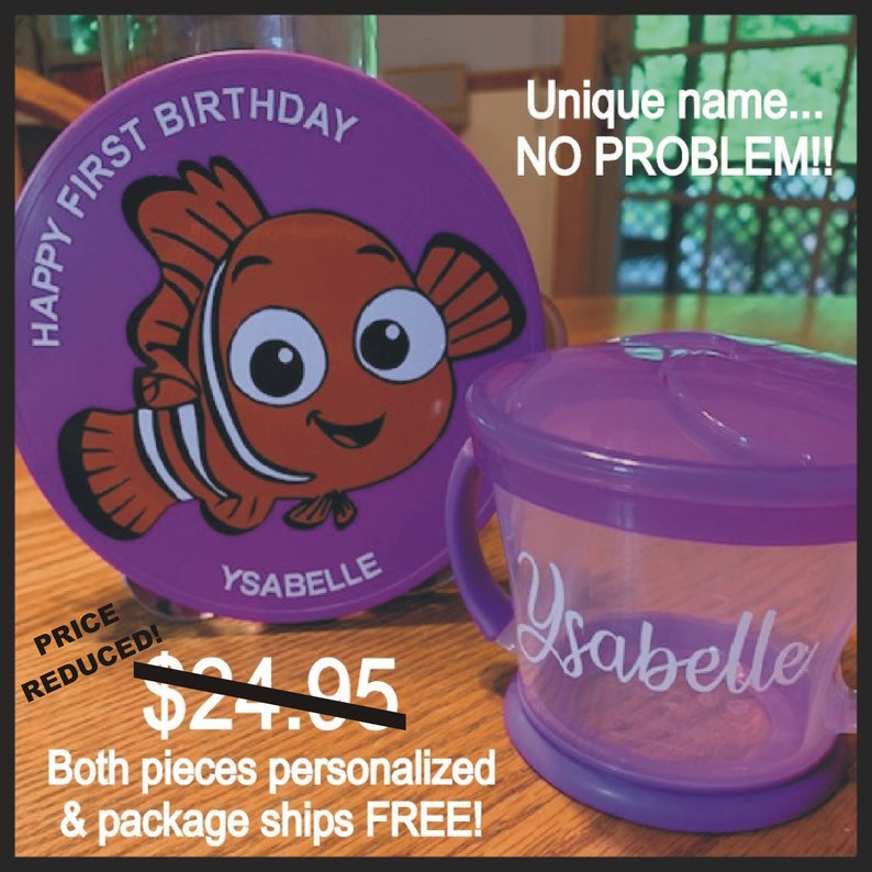 Finding Nemo SALE Personalized 5 Inch First Birthday image 0
