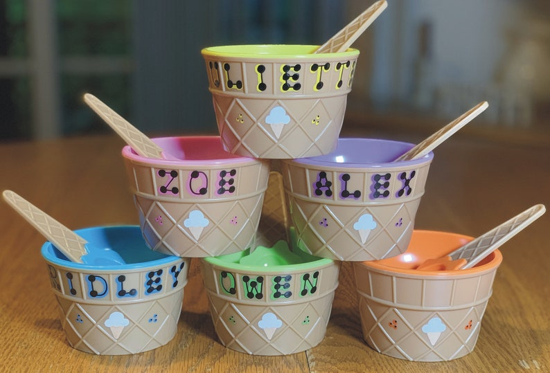 Ice Cream Personalized Party Favor / Kid's Personalized Assorted
