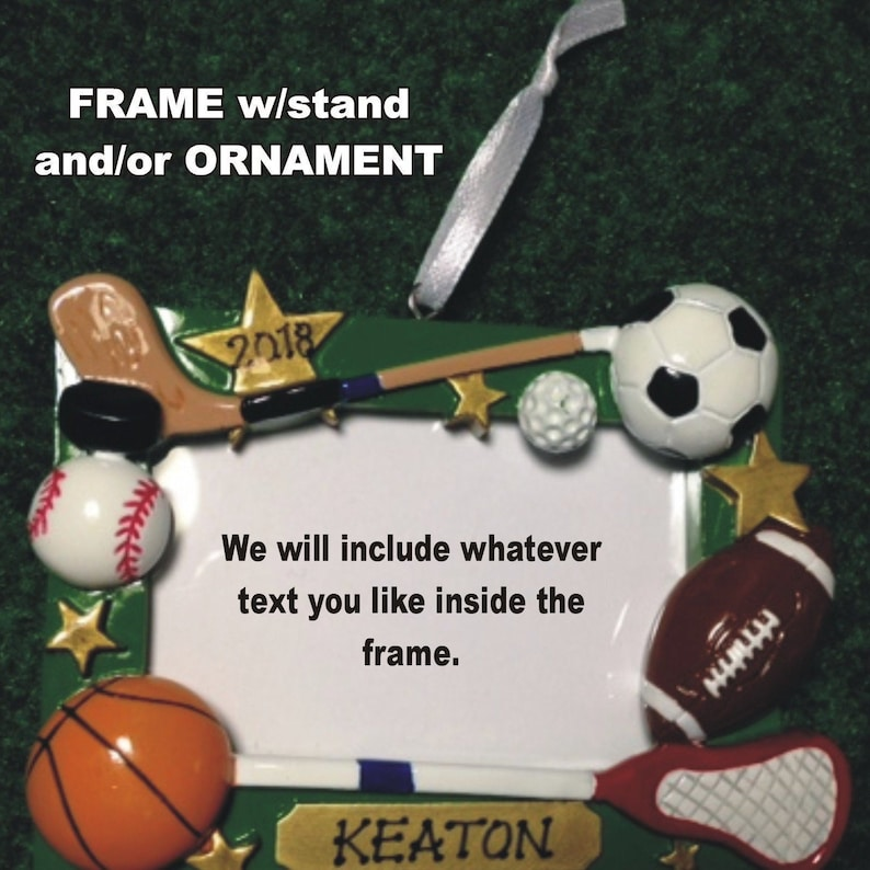 Sports Frame Ornament / Personalized & Gift Wrapped Frame with image 0