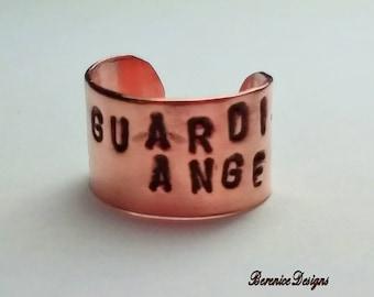 Guardian Angel Ear Cuff in Copper