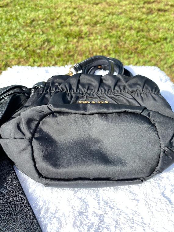 PRADA Vintage 90s Small Nylon and Leather Crossbo… - image 5