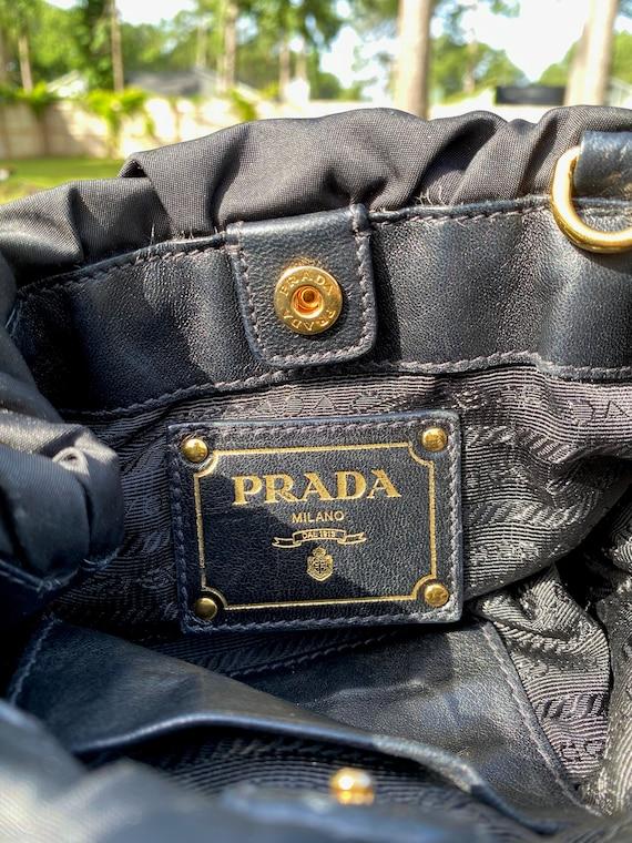 PRADA Vintage 90s Small Nylon and Leather Crossbo… - image 4