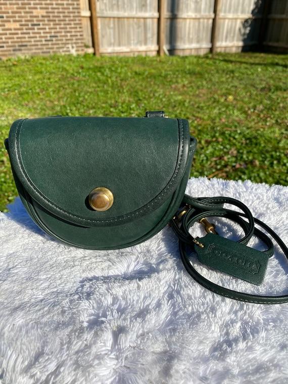 Vintage Coach Green leather mini crossbody  Made i