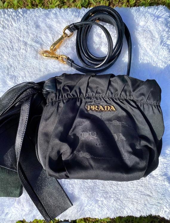 PRADA Vintage 90s Small Nylon and Leather Crossbo… - image 3