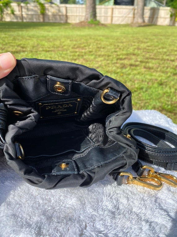 PRADA Vintage 90s Small Nylon and Leather Crossbo… - image 2