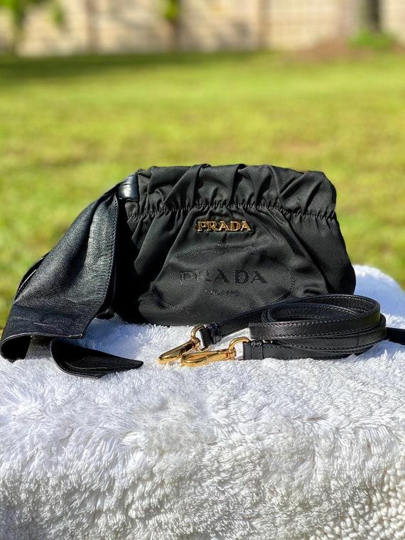 PRADA Vintage 90s Small Nylon and Leather Crossbod