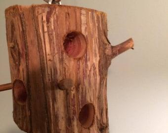 Suet Bird Feeder Log all cedar wood made especially 4 u to feed the birds