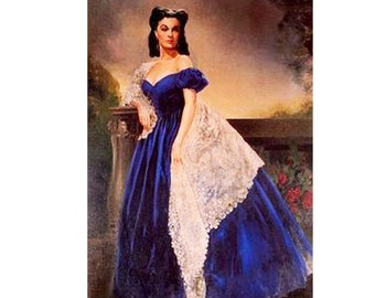 GWTW Child Pageant Scarlet O Hara Gone with the Wind Blue Velvet Portrait  Gown Dress Cosplay Halloween OOC custom 3 6m up to 8 yrs c1ef0ae8b