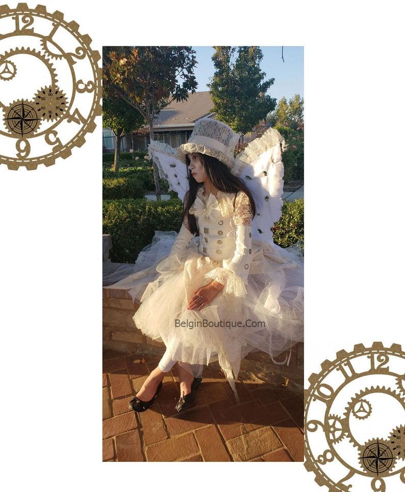 Steampunk Bride Wedding Dress Cosplay Halloween Costume custom image 0