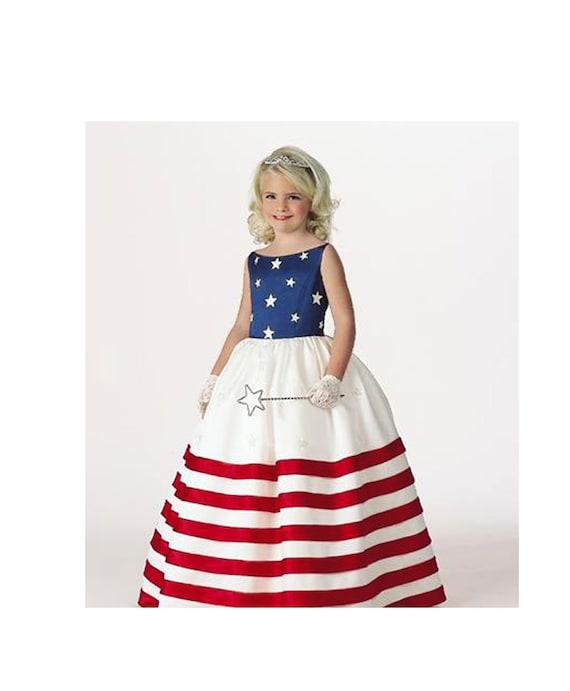 Pageant RWB Princess RWB Flag princess USA princess American   Etsy