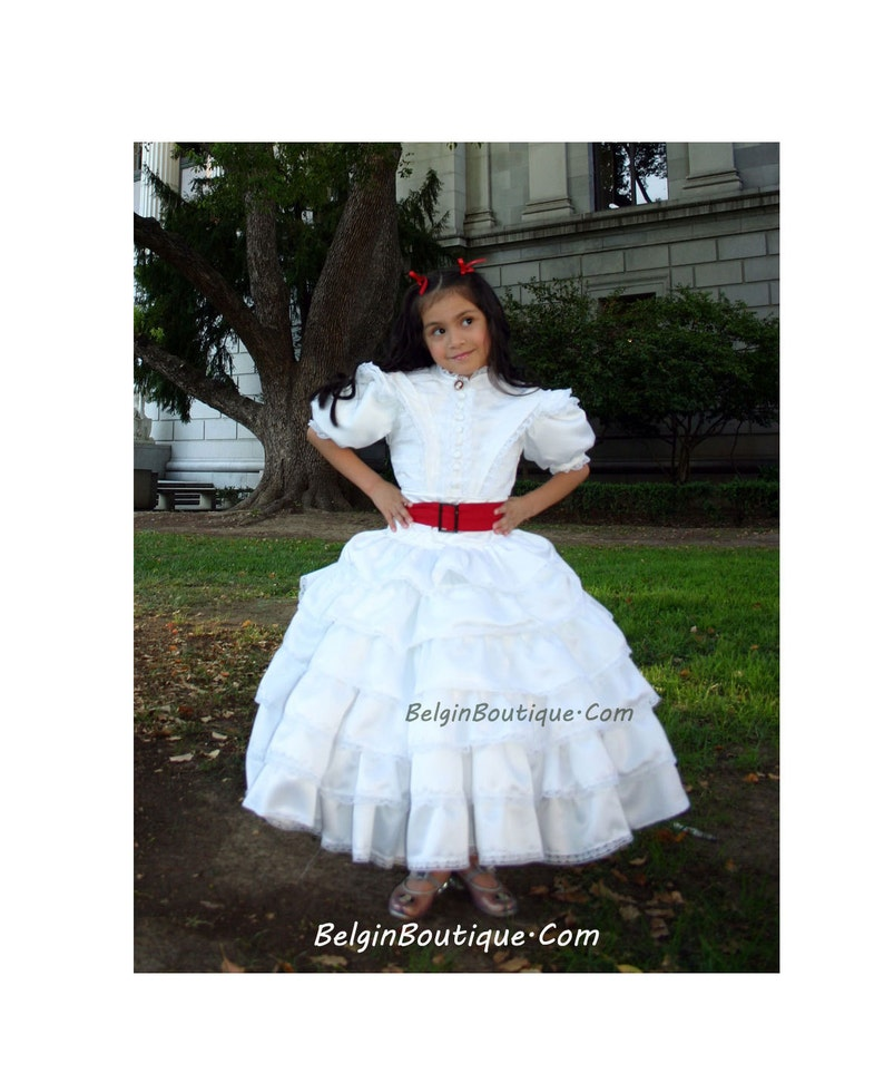 GWTW Pageant Scarlett O'Hara costume white praying dress image 0