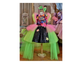 Pageant Slime Neon Glow in the Dark Birthday party OOC custom size 12 up to 10 yrs