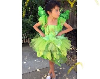 Pageant OOC Tinker Bell Fairy Costume Birthday Casual wear Natural wear Talent wear Halloween wear costume 3/6m 12m 3 4 5 6 7 8 9 10 yrs