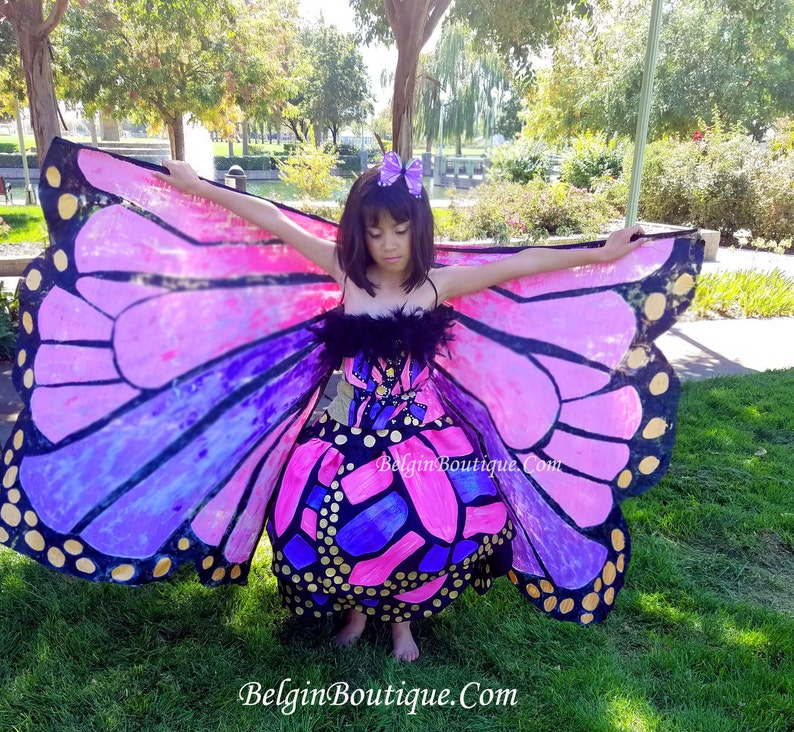 Pageant National Costume Halloween Fantasy Butterfly hand image 0