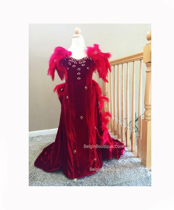GWTW Pageant SCARLETT O\'HARA Red Velveteen gown Valentine | Etsy