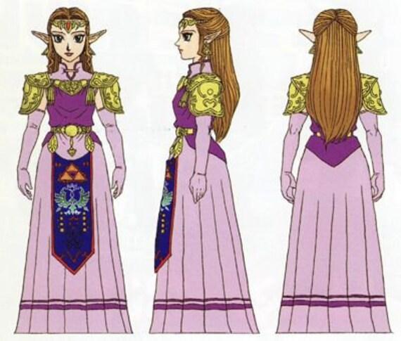 Princess Zelda Ocarina Of Time Cosplay Costume The Legend Of Zelda Cosplay Halloween Costume Custom Size Child Teen Adult Size