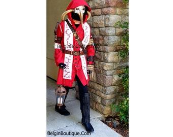 Steampunk  Plague Doctor Alchemist Futuristic Cosplay Science fiction Halloween costume Man woman cosplay custom size kids teen adult