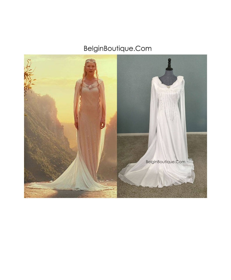 Galadriel White Dress Replica Hobbits Lord of the Rings image 0