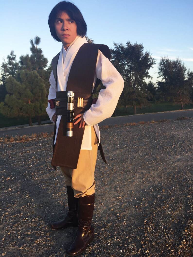 Star Wars Ultra Plus Jedi Garb Halloween Costplay Costume Custom 12m up to 10 yrs Teen and Adult size  Star Wars Movie premier