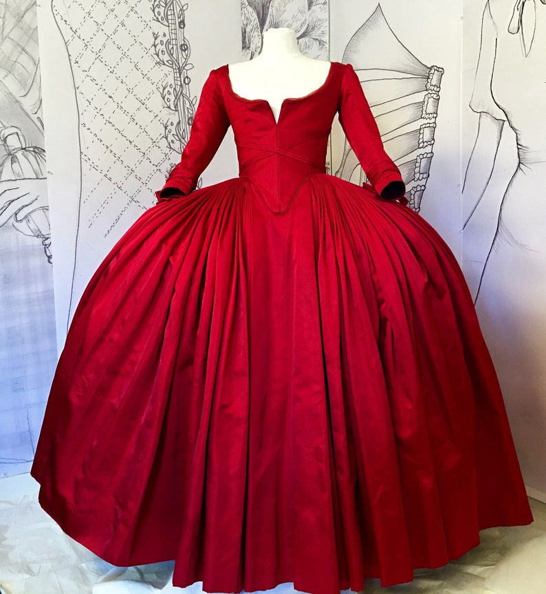 Outlander Claire red dress Replica season 2