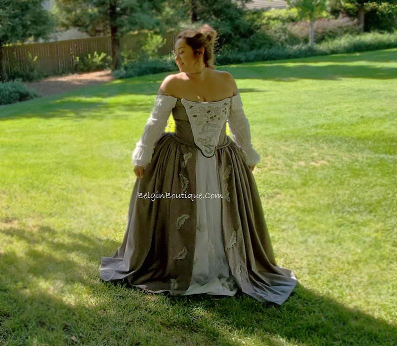 Outlander Claire wedding Bridal dress Replica Cosplay costume image 0