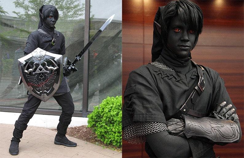 Child legend of Zelda Black Dark shade Link Halloween Costume image 1