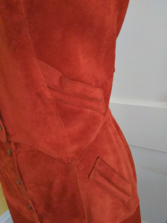 1970s Suede vest and skirt - image 4