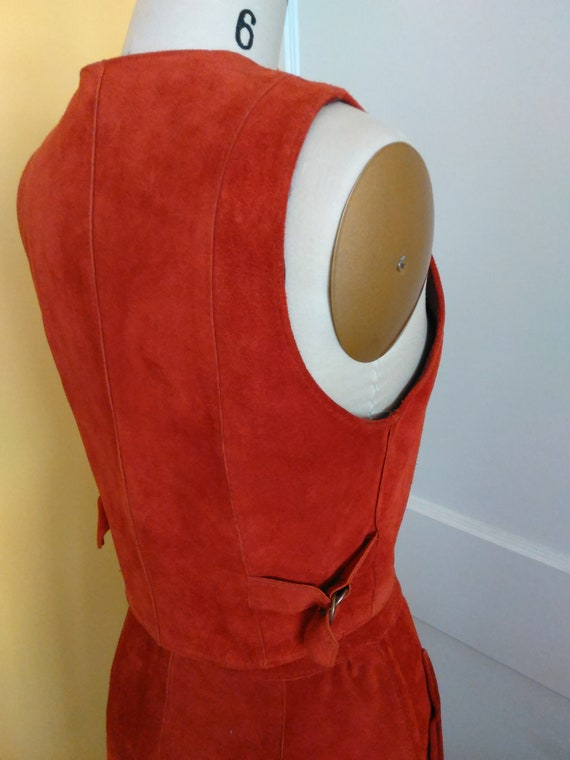 1970s Suede vest and skirt - image 3