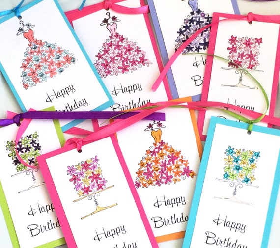 Floral Birthday Gift Tags Set Of 8 Themed Party