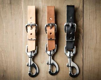 Adjustable Keychain, keychain belt, belt loop keychain, keychain buckle, leather keychain, adjustable leather keychain 092