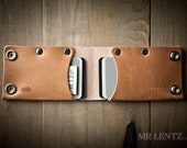 Leather Card Wallet, Leather snap wallet, front pocket wallet, full grain wallet, secure snap wallet  033