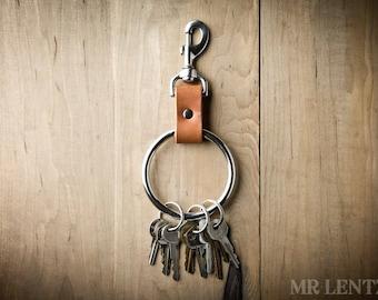 Jailors Key Ring, Jailors keychain, large leather keychain, large key fob, novelty keyring 095