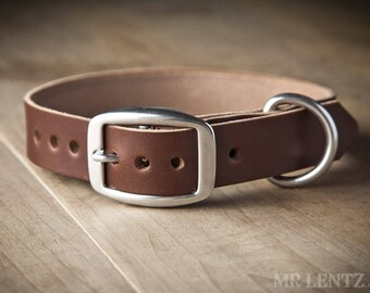 Leather Dog Collar, (dogs 10 to 55 lbs.) , Medium Dog Collar, Dog Collar, Leather Collar for Medium Dogs, Leather Collars 075-M