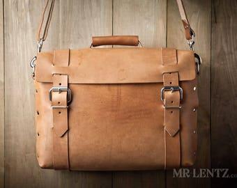 Große Leder-Umhängetasche, große Aktentasche Leder Reisetasche, Herren Lederumhängetasche Leder Gang Tasche 243EX